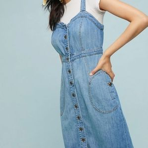 Anthro pilcro and letterpress nwt jean dress